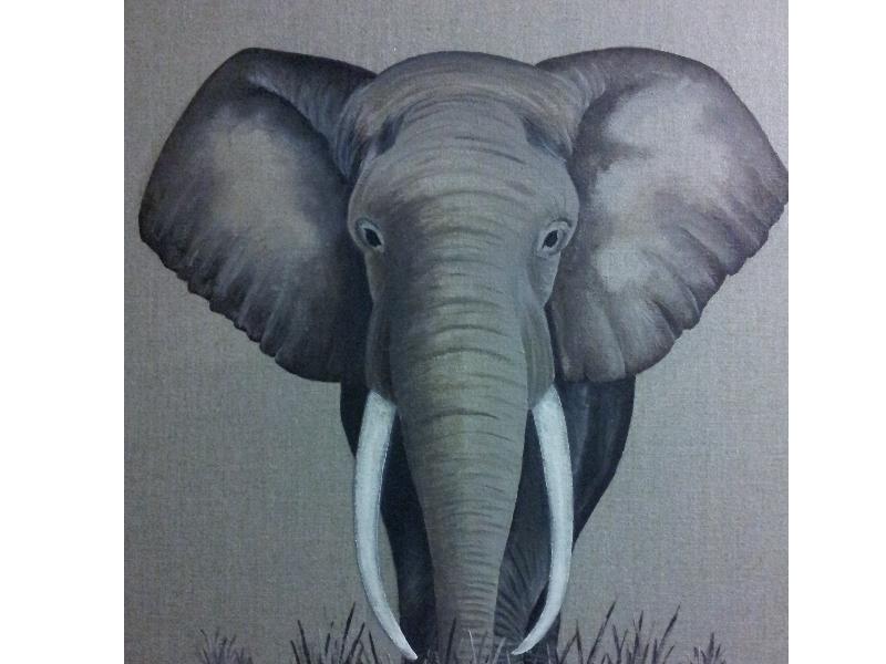 """Toile """"Elephant"""" par Aimj-créations"""