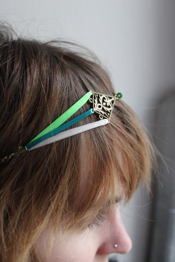 "collier réversible headband losange : ""Camille"""