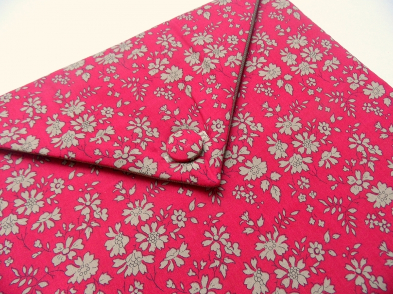 Pochette Ipad en Liberty Capel rouge
