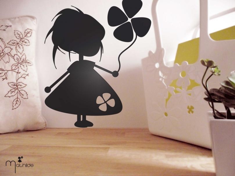"""sticker """" petite Mathilde"""" noir"""