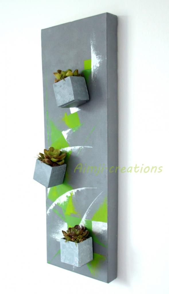 Green piece n°1 Tableau végétal 3D magnétique