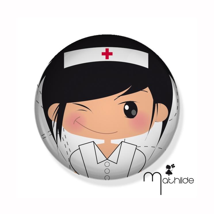 """Badge """"La petite Mathilde"""" infirmière"""