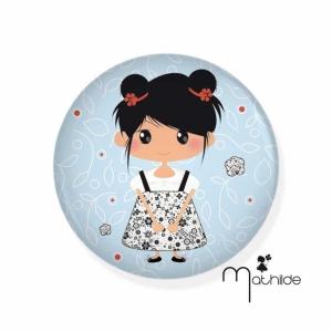 "Badge ""La petite Mathilde"""
