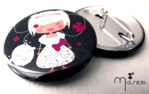 Badge la petite Mathilde